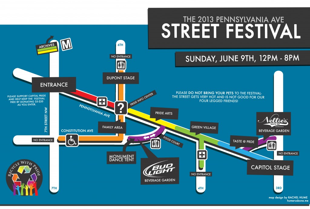 Capital Pride 2013 Festival Map